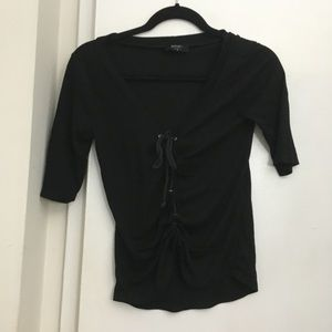 Black lace up Nasty Gal shirt